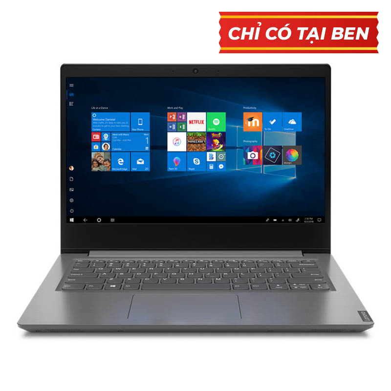 Laptop Lenovo V14-IIL (82C400T1VN)/ Grey/ Core i3/ 4GB/ 256GB/ No OS