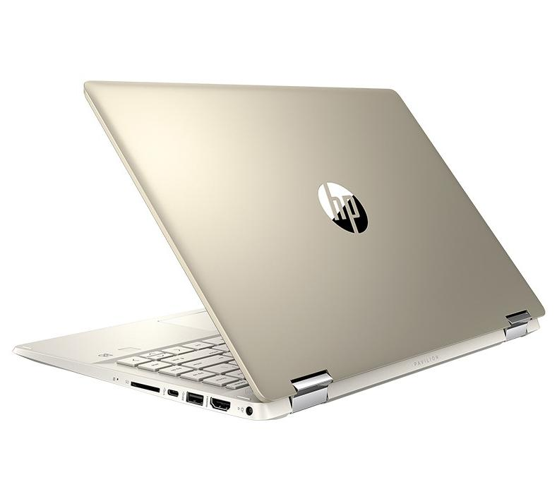 Laptop HP Pavilion x360 14-dw0060TU (195M8PA)/ Gold/ Intel core i3-1005G1/ Ram 4GB/ SSD 256GB/ 14.0 inch FHD Touch/ Pen/ FP/ 3Cell/ Win 10SL