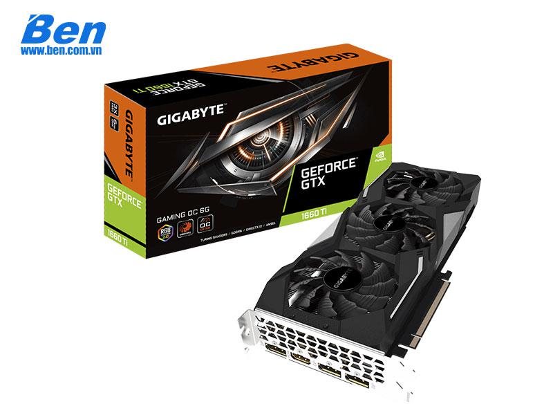 Card màn hình Gigabyte GV-N166TGAMING OC-6GD - GeForce GTX 1660Ti