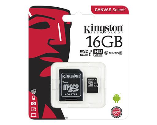 Thẻ nhớ Kingston 16GB MicroSDHC 80R UHS