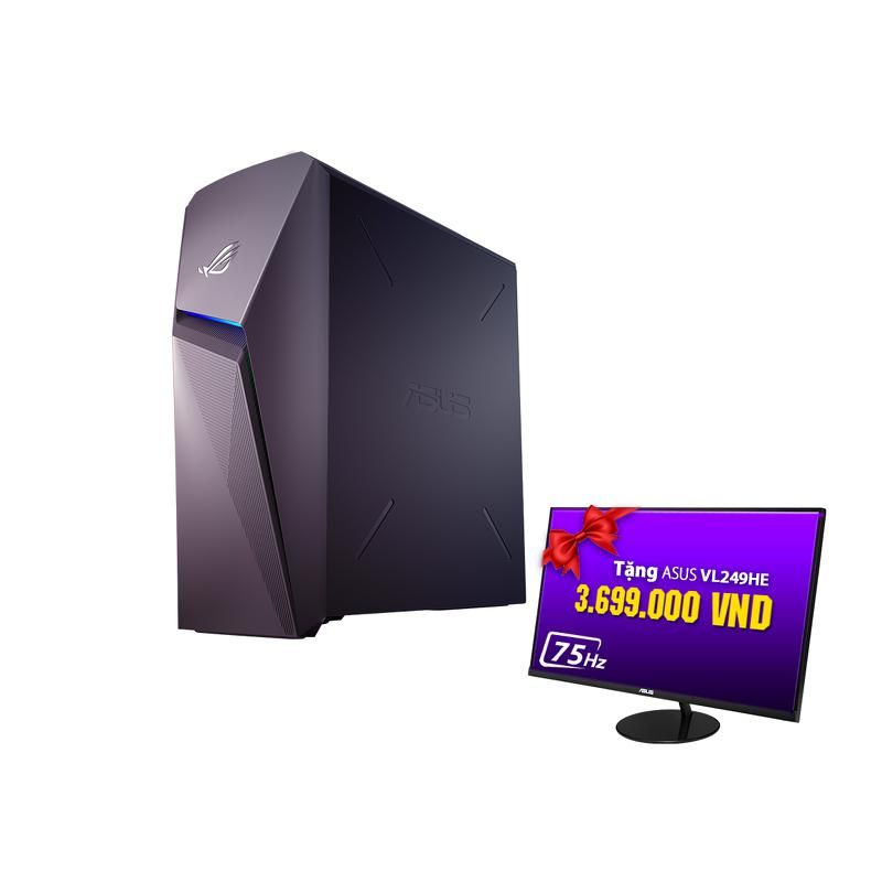 PC Asus ROG Strix GL10CS-VN005T/ Xám/ Intel core i5-9400 (2.90GHz, 9MB)/ Ram 8GB/ 1TB HDD/ NVIDIA GeForce RTX 2060/ Win 10 SL/ 2 Yrs
