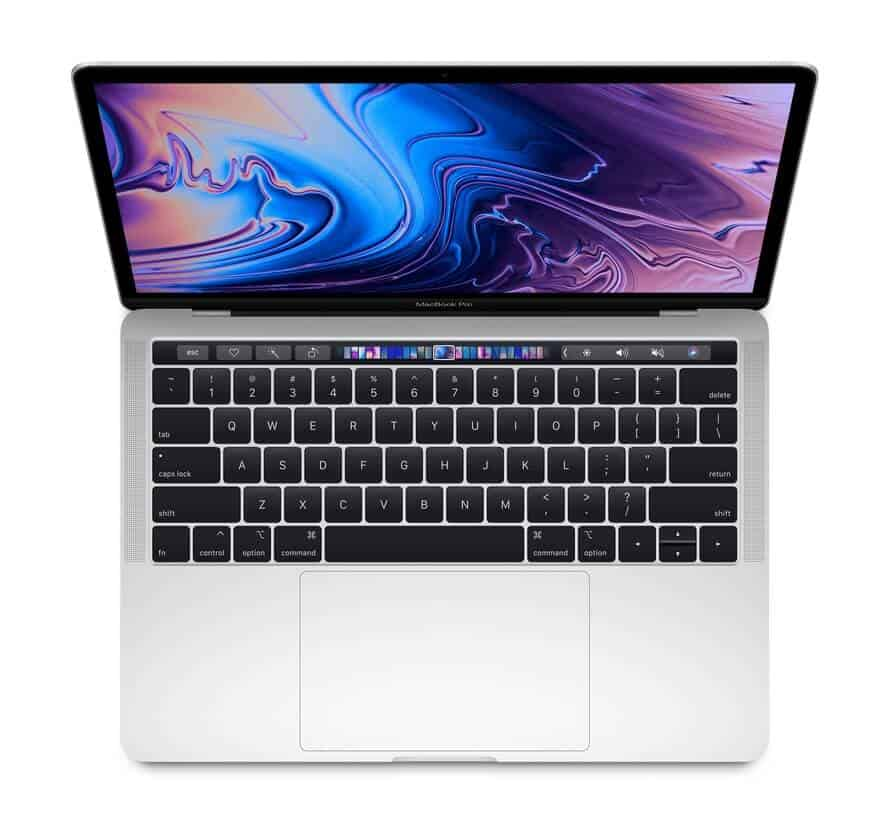Laptop Apple MacBook Pro MV9A2/ Silver/ 2.4GHz quad-core 8th Intel Core i5/ RAM 8GB/ SSD 512GB/ Intel Iris Plus Graphics 655/ 13.3 inch/ Mac OSX/ 1Yr
