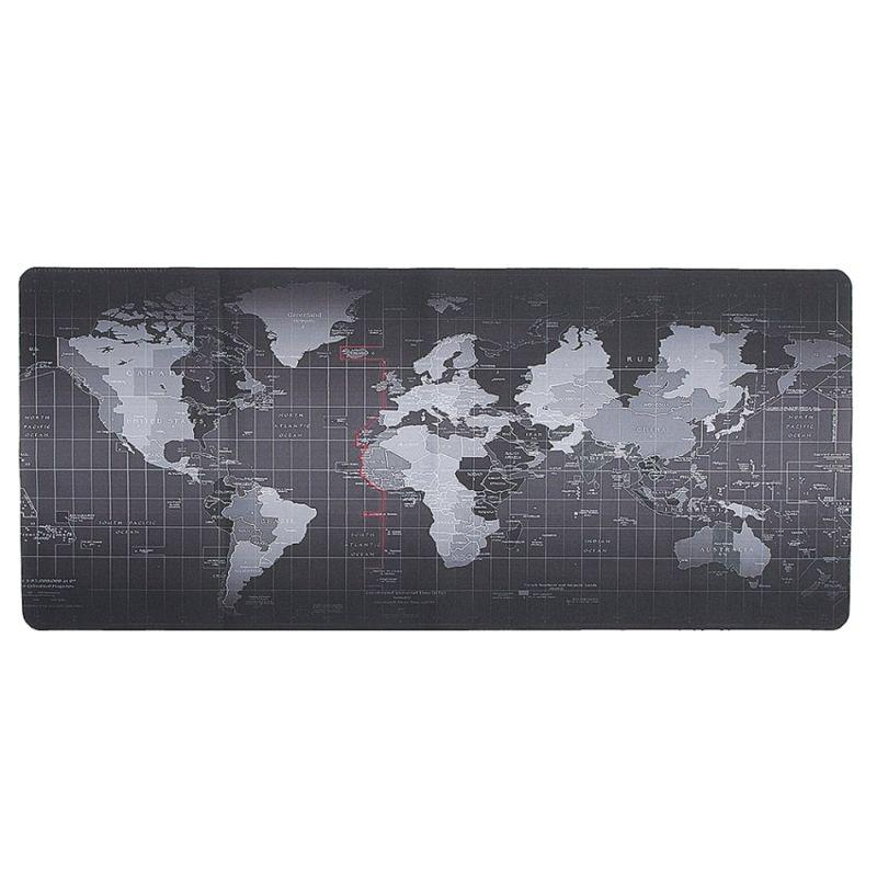 Bàn di chuột Custom Worldmap Black 900x400mm