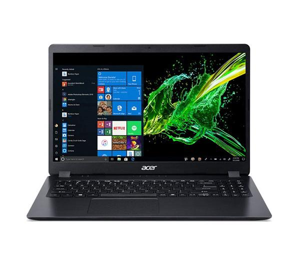 Laptop ACER Aspire A315-56-37DV (NX.HS5SV.001)/ Black/ Intel Core i3-1005G1 (1.20GHz, 4MB)/ Ram 4GB DDR4/ SSD 256GB/ Intel UHD Graphics/ 15.6 inch FHD/ 3Cell/ Win 10SL/ 1Yr