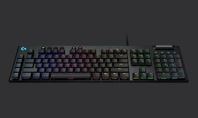 Bàn phím cơ Logitech G813 Lightsync RGB Mechanical Romer G Linear Gaming Keyboard Black
