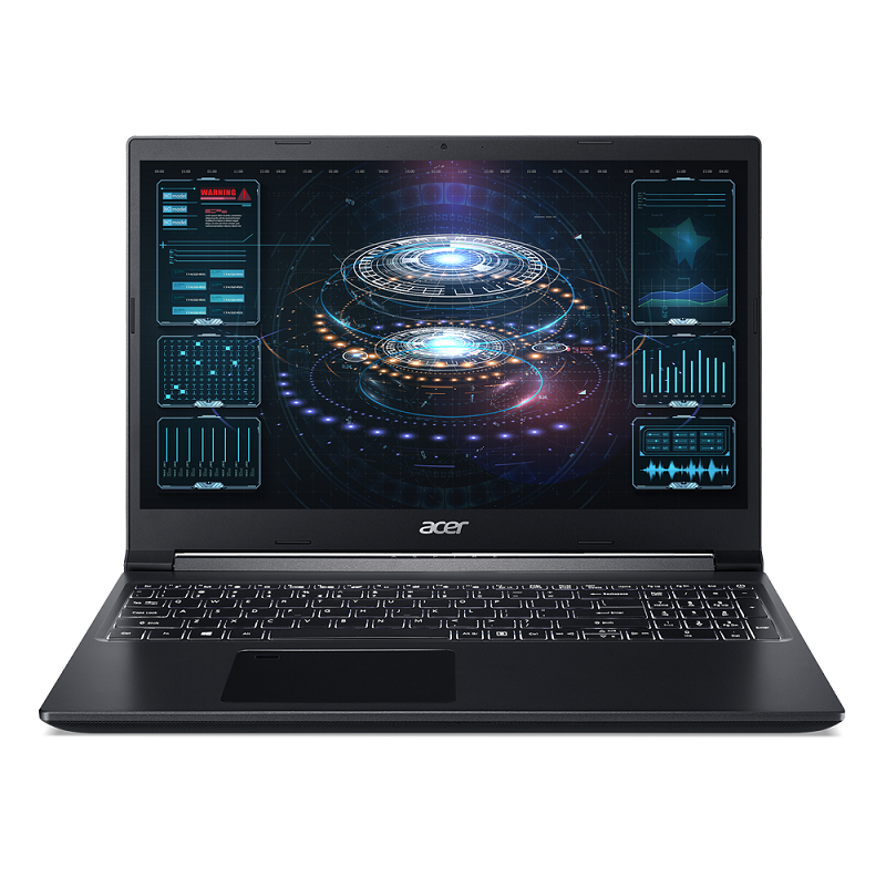 Laptop Acer Aspire 7 A715-41G-R8KQ (NH.Q8DSV.001)/ Black/ AMD Ryzen R5 3550H (2.10GHz, 4MB)/ RAM 8GBx1/ SSD 256GB/ GeForce GTX 1650 4GB GDDR6/ 15.6 inch FHD IPS/ Win 10/ 1Yr