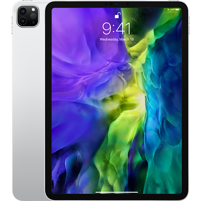 Máy tính bảng Apple iPad Pro 11 2020 2nd-Gen 128GB Wifi Cellular - Silver (MY2W2ZA/A)