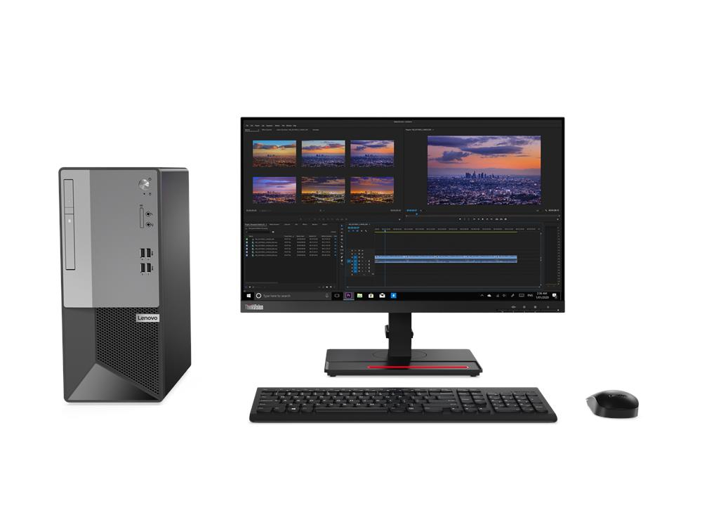 PC Lenovo V50T (11ED002TVA)/ Intel Core i3-10100 (3.60GHz, 6MB)/ Ram 4GB DDR4/ SSD 256GB/ DVDRW/ Intel UHD Graphics/ Wifi/ Key & Mouse/ DOS/ 1Yr