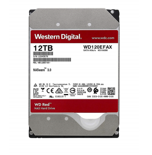 ổ cứng  gắn trong HDD NAS WD Red12TB/256MB/5400/3.5 - WD120EFAX