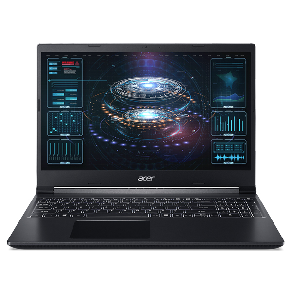 Laptop ACER Aspire 7 A715-41G-R1AZ (NH.Q8DSV.003)/ Black/ AMD Ryzen R7-3750H (2.30GHz, 4MB)/ Ram 8GB DDR4/ SSD 512GB/ NVIDIA GeForce GTX 1650 4GB GDDR6/ 15.6 inch FHD/ 3 Cell/ Win 10SL/ 1Yr