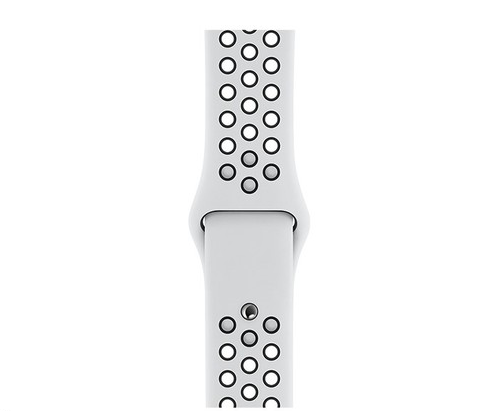 Dây đeo Watch 44mm Pure Platinum/Black Nike Sport Band - S/M & M/L