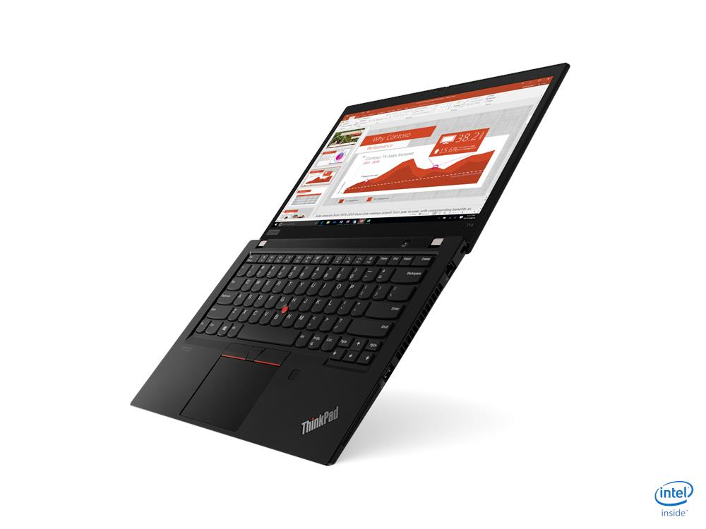 Laptop Lenovo ThinkPad T14 (20S0S01A00)/ Black/ Intel Core i5-10210U (1.60GHz, 6MB)/ Ram 8GB DDR4/ SSD 256GB/ 14.0 inch FHD/ Intel UHD Graphics/ 3Cell/ FP/ No OS/ 3Yrs