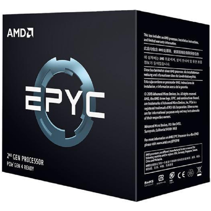 Bộ vi xử lý CPU AMD EPYC 7262 (3.2GHz turbo up to 3.4GHz / 128MB / 8 Cores, 16 Threads / 155W / Socket SP3)