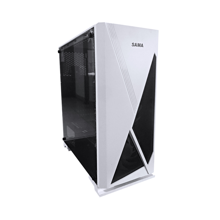Vỏ Case SAMA Jazovo plus XII White (Mid Tower/Màu trắng)