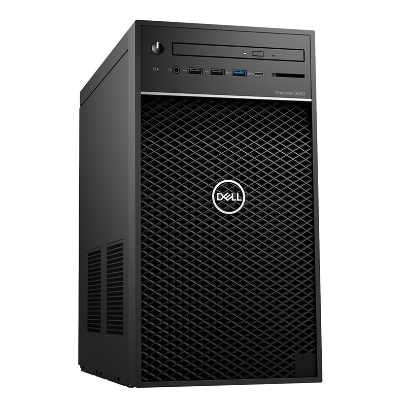 PC Dell Precision Mini Tower 3630 CTO BASE (42PT3630D08)/ Intel Xeon E-2124G (3.40GHz, 8MB)/ Ram 16GB (2x8GB) DDR4/ SSD 256GB + HDD 1TB/ DVDRW/ NVIDIA Quadro P620, 2GB, 4 mDP, HDMI/ Key & Mouse/ Ubuntu Linux/ 3Yrs