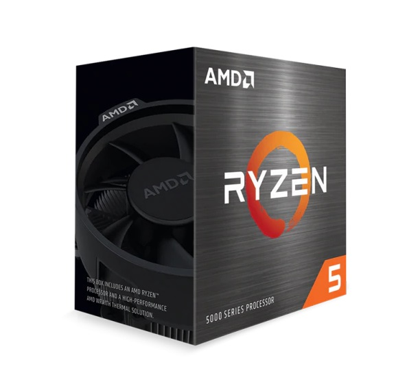Bộ vi xử lý CPU AMD Ryzen 5 5600X (Wraith Stealth cooler / 3.7 GHz (4.6GHz Max Boost) / 35MB Cache / 6 cores, 12 threads / 65W / Socket AM4)