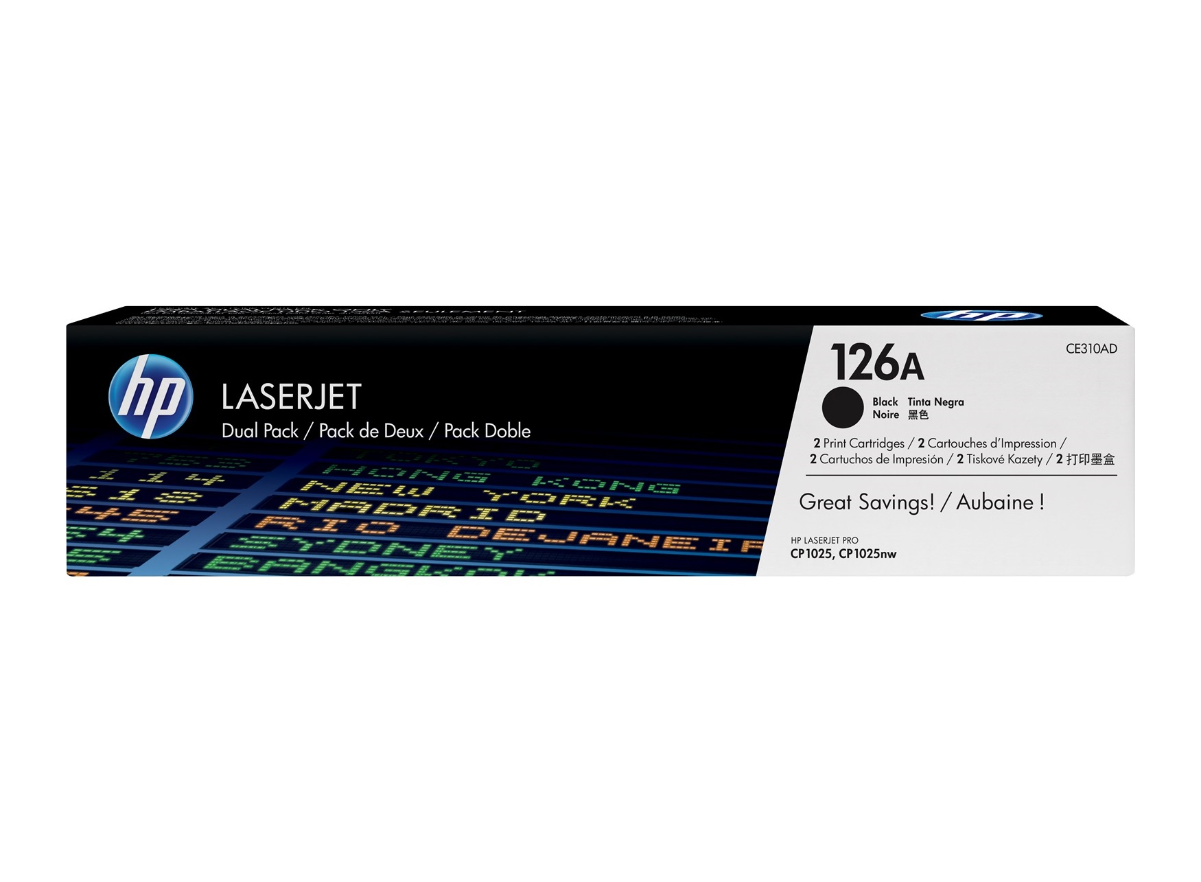 Mực In HP 126A Black Original LaserJet Toner Cartridge (Dual Pack) CE310AD 618EL