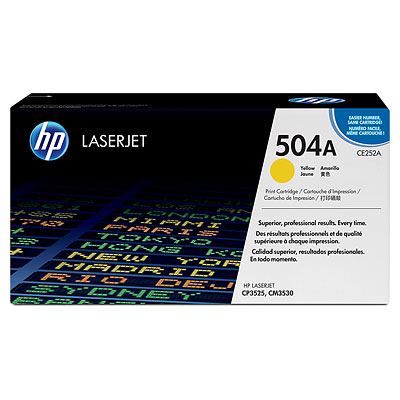 Mực in HP 504A Yellow LaserJet Toner Cartridge (CE252A)