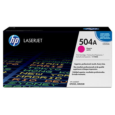 Mực in HP 504A Magenta LaserJet Toner Cartridge (CE253A)