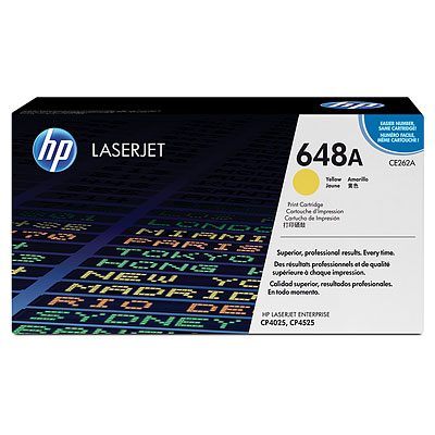 Mực in HP 648A yellow LaserJet Toner Cartridge (CE262A)