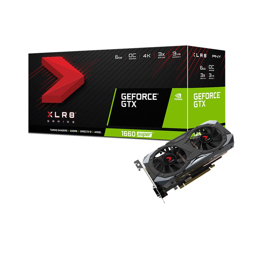 Card màn hình PNY GeForce GTX 1660 Super 6GB XLR8 Gaming Overclocked Edition