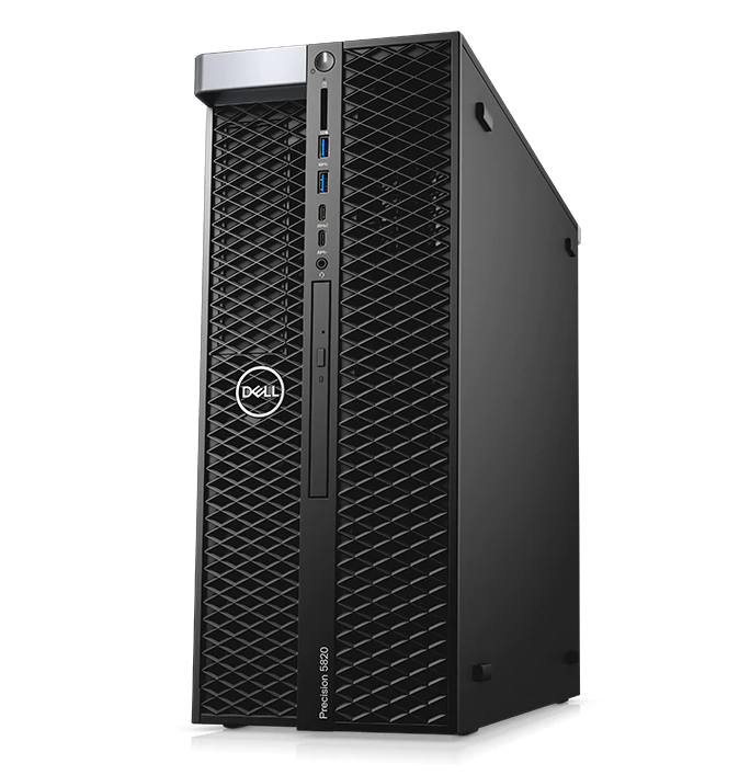 PC Dell Precision 5820 Tower (70225754)/ Intel Xeon W-2223 (3.6GHz, 8.25MB)/ Ram 2x8GB DDR4/ SSD 256GB + HDD 1TB/ Nvidia Quadro P2200, 5GB/ DVDRW/ Key + Mouse/ Win 10 Pro/ 3Yrs