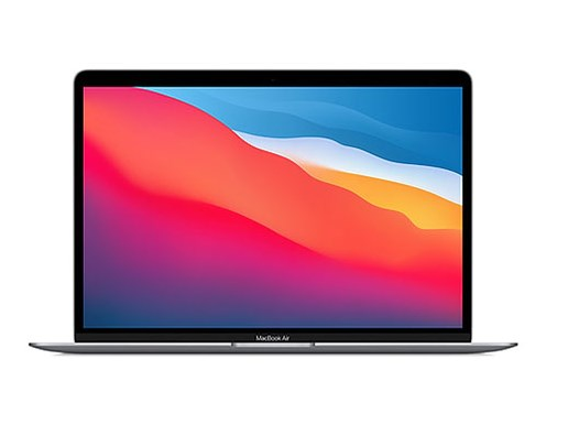 Laptop Apple MacBook Air MGN63 (MGN63SA/A)/ Space Grey/ M1 Chip/ RAM 8GB/ 256GB SSD/ 13.3 inch Retina/ Touch ID/ Mac OS/ 1 Yr