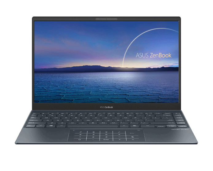 Laptop Asus Zenbook UX325EA-EG079T/ Pine Grey/ Intel Core i5-1135G7 (up to 4.20 Ghz, 8MB)/ RAM 8GB/ 256GB SSD/ Intel Iris Xe Graphics/ 13.3 inch FHD/ 4 Cell/ Túi Sleeve/ NumPad/ Win 10/ 2 Yrs