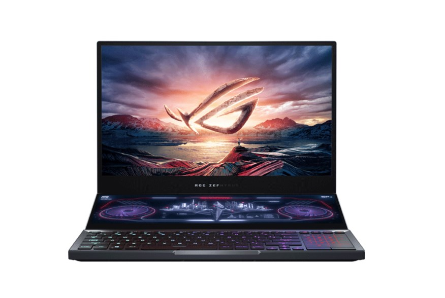 Laptop Asus Gaming ROG Zephyrus Duo GX550LXS-HC055R/ Gray/ Intel Core i9-10980HK (2.40 Ghz, 16MB)/ RAM 32GB DDR4/ 1TB + 1TB PCIEG3/ Nvidia Geforce RTX 2080 Super Max Q-8GB DDR6/ 15.6 inch UHD/ 4 Cell 90 Whr/ Balo/ Chuột/ Win 10 Pro/ 2 Yrs