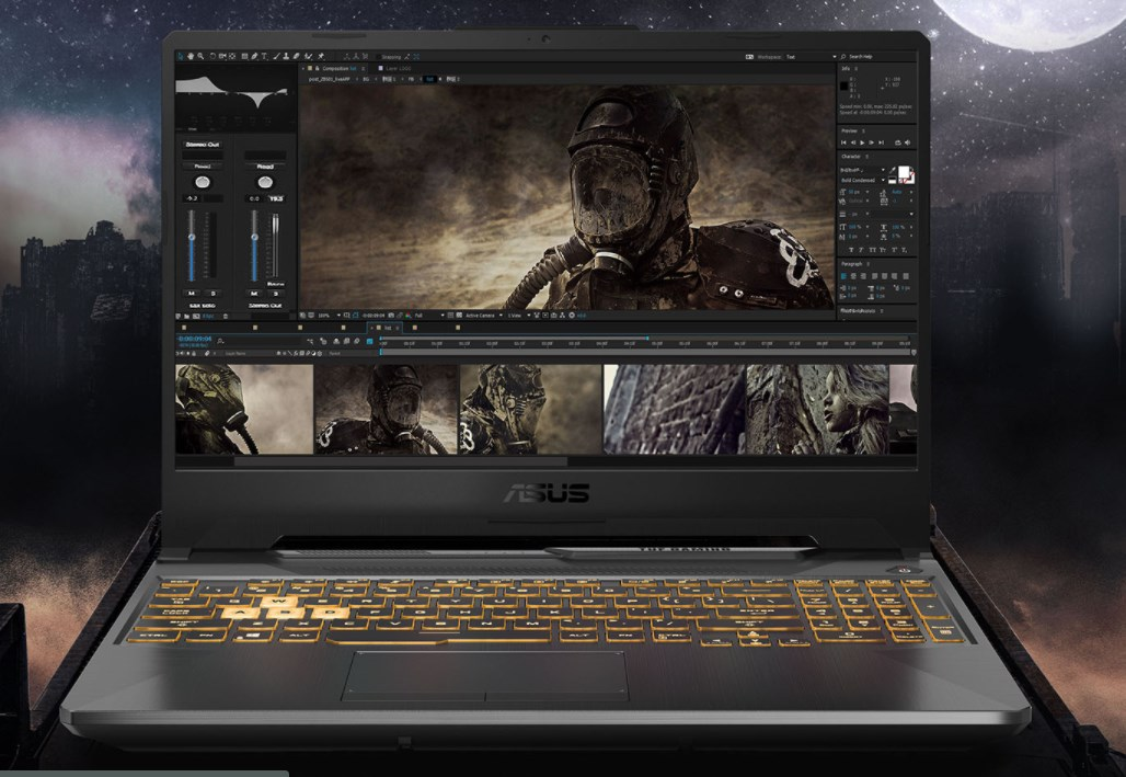 Laptop Asus Gaming TUF FX506LI-HN096T/ Grey/ Intel Core i7-10870H (2.20 Ghz, 16MB)/ RAM 8GB DDR4/ 512GB SSD/ Nvidia Geforce GTX 1650Ti 4GB/ 15.6 inch FHD/ Win 10/ 2 Yrs