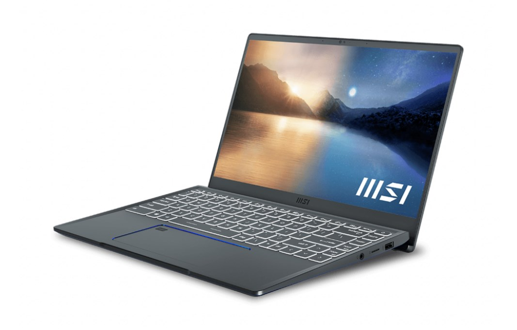 Laptop MSI Prestige 14 A11SCX (282VN)/ Gray/ Intel Core i7-1185G7 (4.80 Ghz, 12MB)/ RAM 8GB DDR4/ 512GB SSD/ Nvidia Geforce GTX1650 Max Q 4GB/ 14 inch FHD/ 52 Whr/ Win 10h/2 Yrs