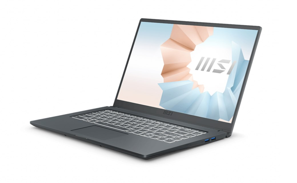 Laptop MSI Modern 15 A11M (200VN)/ Grey/ Intel Core i5-1135G7 (up to 4.20 Ghz, 8MB)/ RAM 8GB DDR4/ 512GB SSD/ Intel Iris Xe Graphics/ 15.6 inch FHD/ 52 Whr/ Win 10H/ 1 Yr