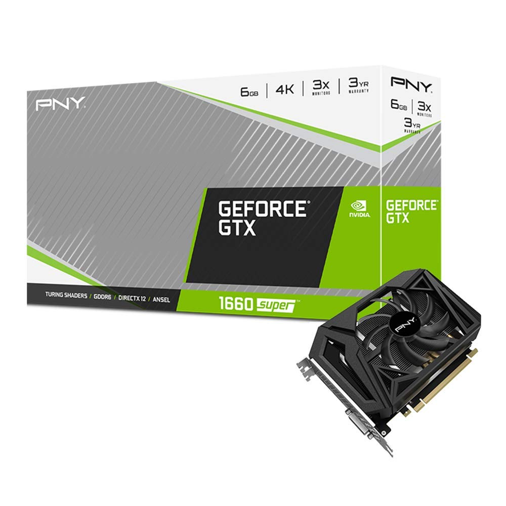 Card màn hình PNY GeForce GTX 1660 SUPER 6GB Single Fan