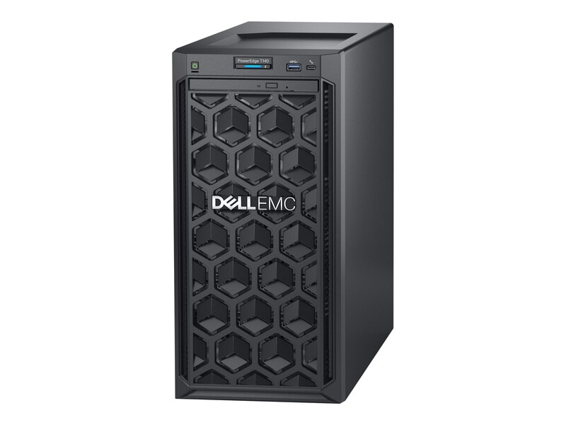 Máy chủ Dell T140 4x3.5 Cable HDD/H330 Intel Xeon E-2224/ 8GB UDIMM 2666MTs/ 1TB 7.2K RPM SATA 6Gbps 512n 3.5in Cabled Hard Drive/ DVDRW/ PERC H330/ DP On-Board LOM 1GBE/ iDRAC9 Basic/ 3Yrs Pro