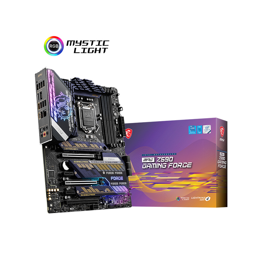Bo mạch chủ Mainboard MSI Z590 GAMING FORCE (Intel Z590, Socket 1200, ATX, 4 khe Ram DDR4)