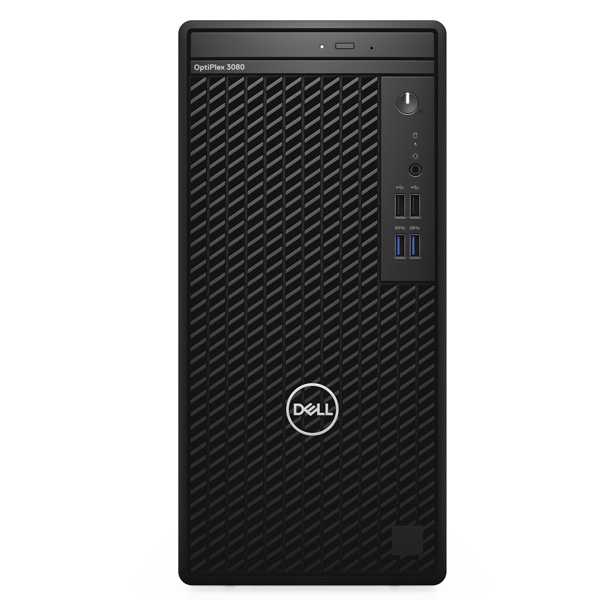 Máy tính để bàn Dell OptiPlex 3080 Tower 42OT380015/Intel Core i3-10100 3.60 GHz up to 4.30 GHz, 6 MB/8GB (1X8GB) DDR4 2666 MHz (2 slot) max 64GB/1TB 7200rpm SATA 3.5 HDD/ Intel UHD Graphics/Free Dos/3Yr