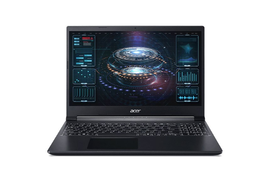 Laptop Acer Aspire 7 A715-42G-R4ST (NH.QAYSV.004)/ Black/ AMD Ryzen 5500U (2.10 Ghz, 8MB)/ RAM 8GB DDR4/ 256GB SSD/ 15.6 inch FHD/ Nvidia Geforce GTX1650 4GB/ 48 Whr/ Win 10/ 1 Yr