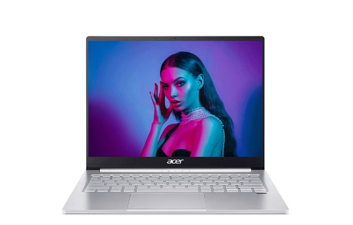 Laptop Acer Swift 3 SF313-53-518Y (NX.A4JSV.003)/ Silver/ Intel Core i5-1135G7 (up to 4.20 Ghz, 8 MB)/ RAM 16GB DDR4/ 512GB SSD/ 13.5 QHD/ Intel Iris Xe Graphics/ FP/ WL+BT/ Webcam/ 56 Whr/ Win 10H/ 1 Yr