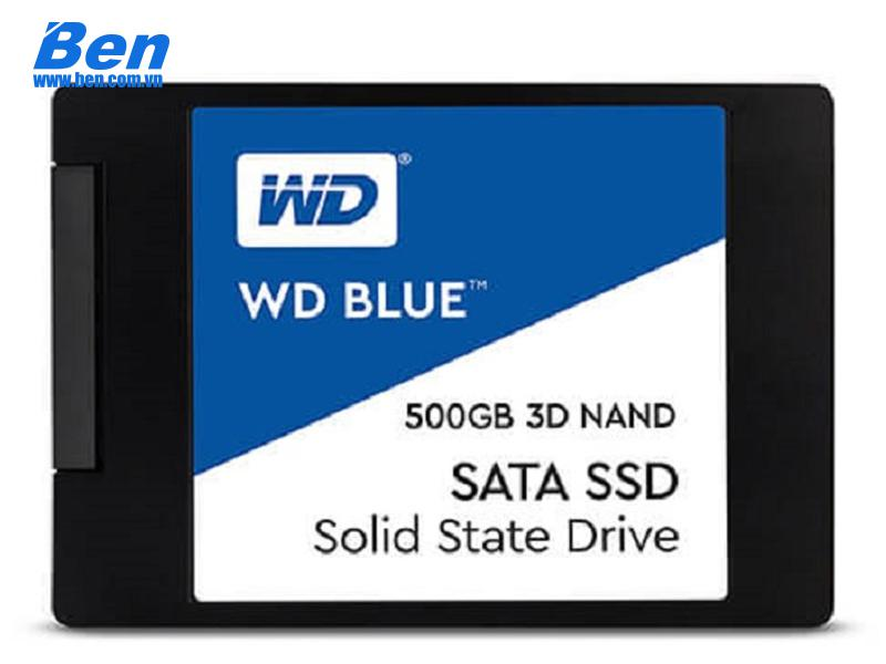 Ổ cứng gắn trong SSD Western Blue 500GB / 2.57mm Sata3 /3DNAND/ Read up to 560MB / Write up to 530MB / up to 95K/84K IOPS (WDS500G2B0A)