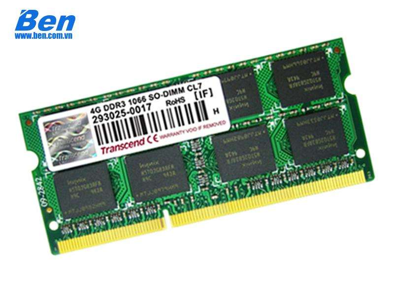 Ram Laptop DDR3L Transcend 4GB bus 1600MHz (TS512MSK64W6H) 1.35v for Notebook
