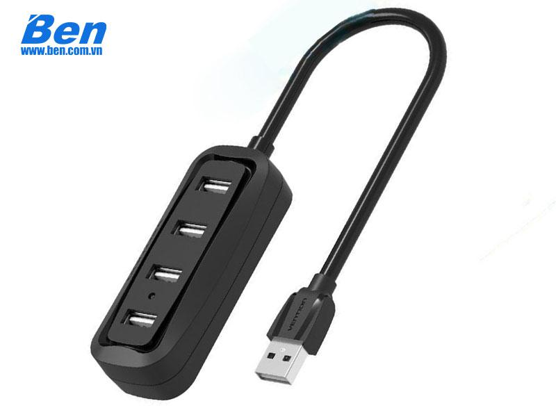 Bộ chia Vention USB2.0 4-Port ABS Shell VAS-J43-B100 ( 1m / Black )