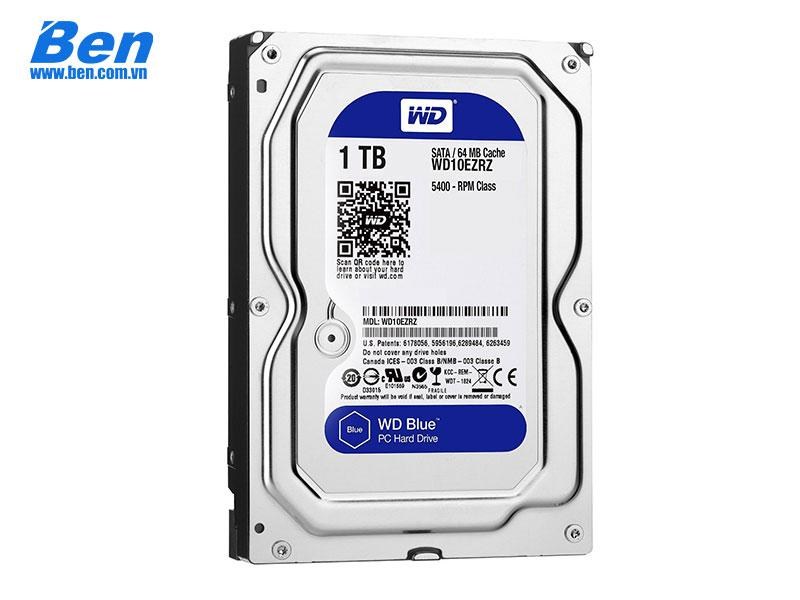 Ổ cứng gắn trong HDD Western Blue 1TB 7200rpm 64MB 3.5 Sata III (WD10EZEX)