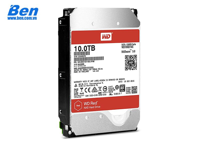 Ổ cứng gắn trong Western Red 10TB 3.5inchs SATA 3 256MB Cache/ 5400RPM