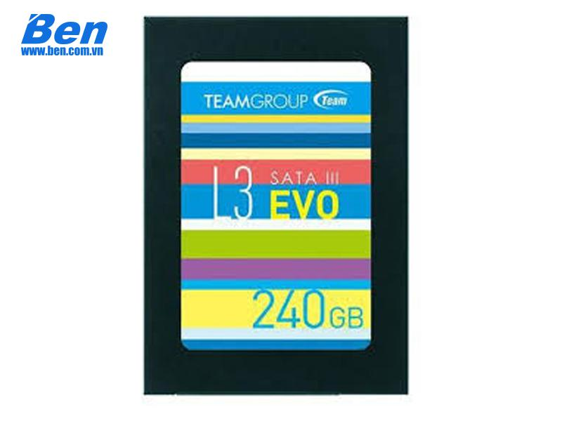 Ổ cứng gắn trong SSD Team 240GB L3 Evo 2.5 inch SATA III 530MB/s Max ; Write: 400MB/s Max