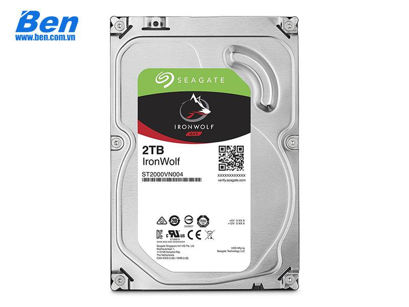 Ổ cứng gắn trong Seagate IronWolf 2TB 3.5 SATA/ 5900 rpm/ 64Mb cache (6Gb/s)