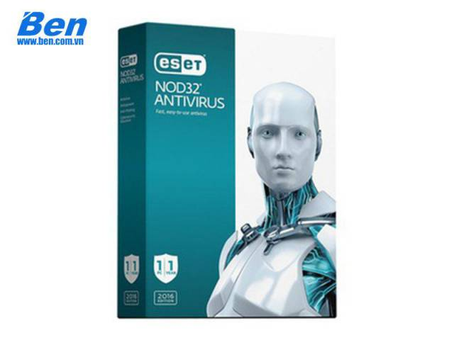 Phần mềm Eset NOD32 Anti-Virus (1 User, 1 Year) (EAV-1U1Y)