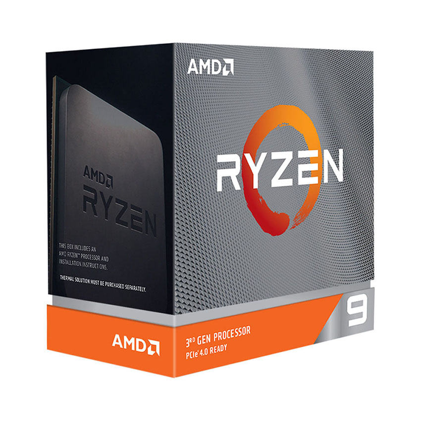 CPU AMD Ryzen 9 3900XT (3.8 GHz turbo upto 4.7GHz / 70MB / 12 Cores, 24 Threads / 105W / Socket AM4)