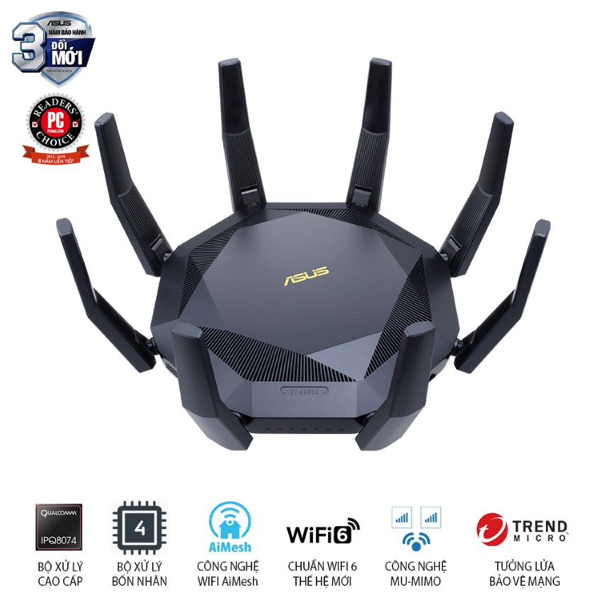 Bộ phát Wifi Router Gaming ASUS RT-AX89X