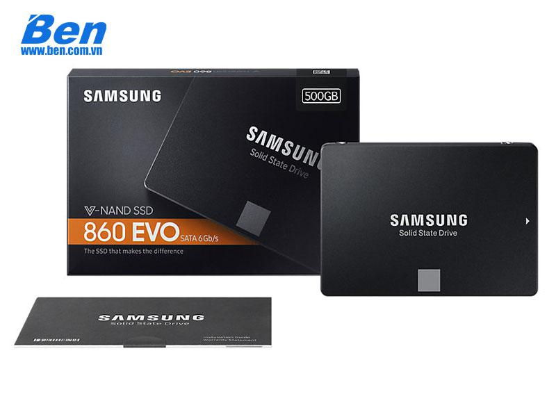 SSD Samsung 860 EVO Series 500GB 2.5inch (Read: 550MB/s, Write : 520MB/s)