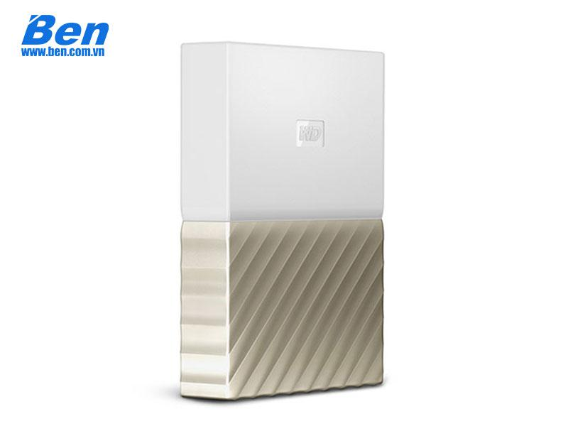 Ổ cứng di động Western 2.5 My Passport Ultra 2TB USB 3.0 White-Gold
